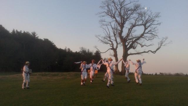 Jockey on The Lickey Hills - Sunrise on May 1st 2013