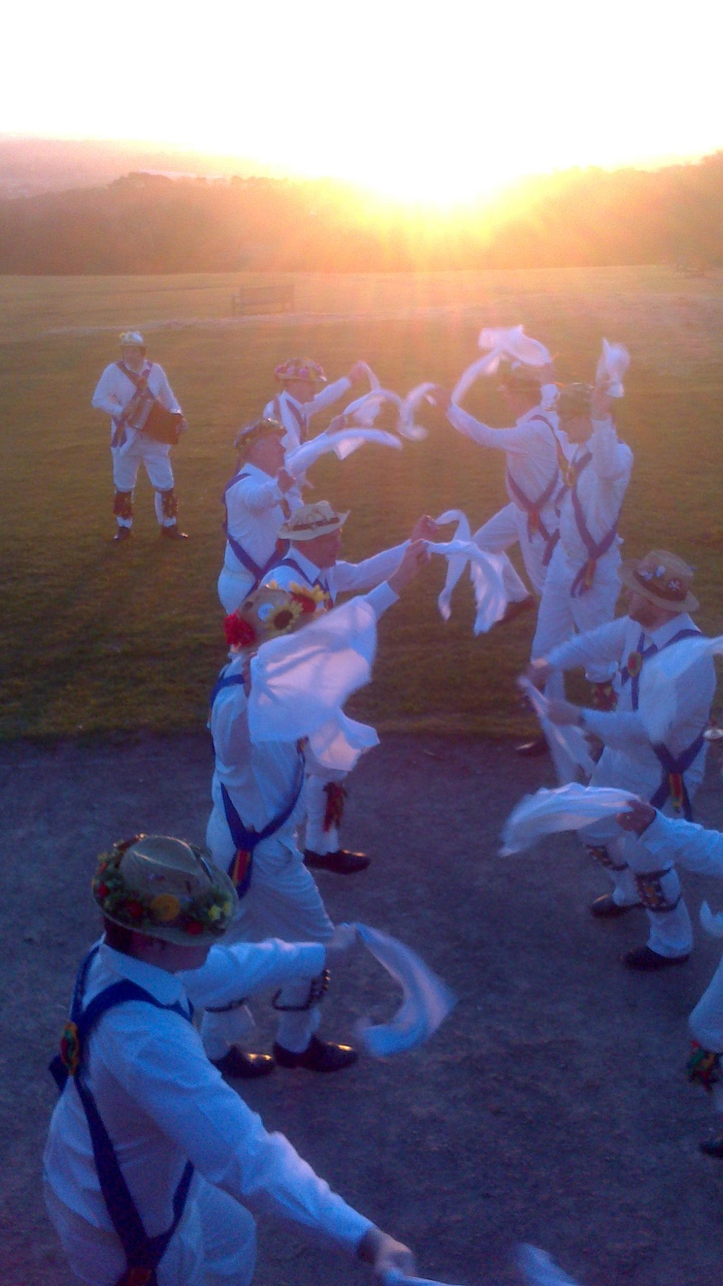 Jockey Dancing on The Lickey Hills - Sunrise on May 1st 2013