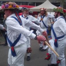 Jockey Dancing at a Belgian Market - May 2016