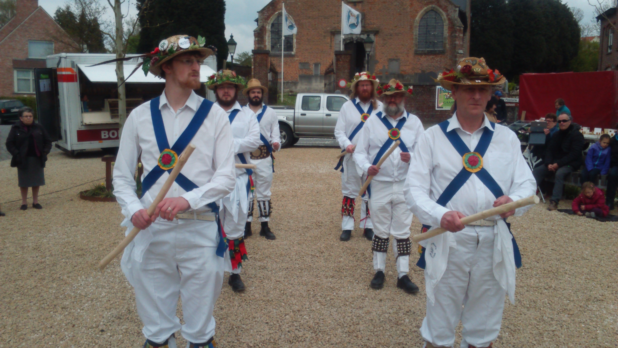 The Men Lined up Ready for Action