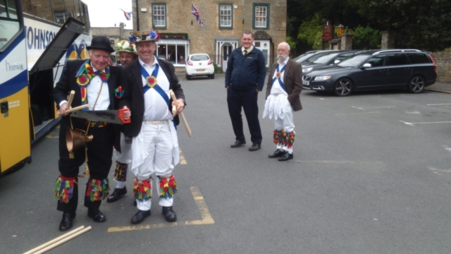 Fiddler and The Fool improvise some new sticks in Stow on the Wold