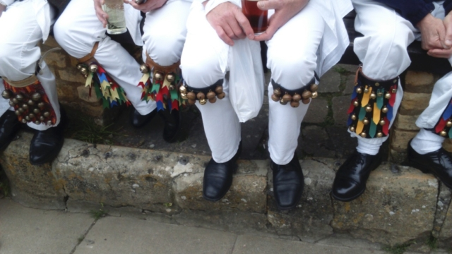 Legs with bells on at The Crown and Trumpet in Broadway