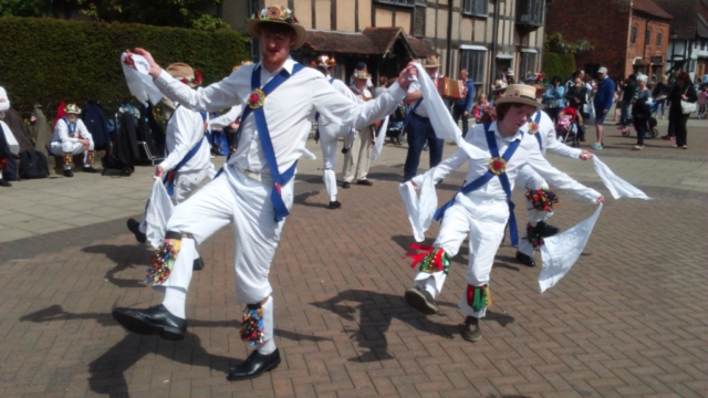 Dancing by Shakespeare's Birth Place in Stratford upon Avon