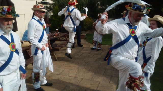 Capering in a dance at The Mary Arden in Wilmcote