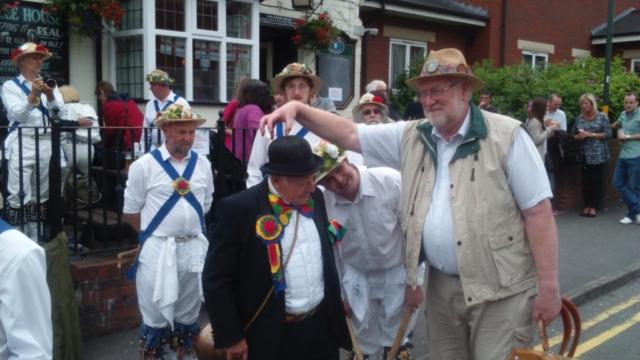 Jockey at Harborne Carnival with Medium Roy on Melodeon
