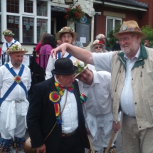 Jockey at Harborne Carnival with Medium Roy on Melodeon