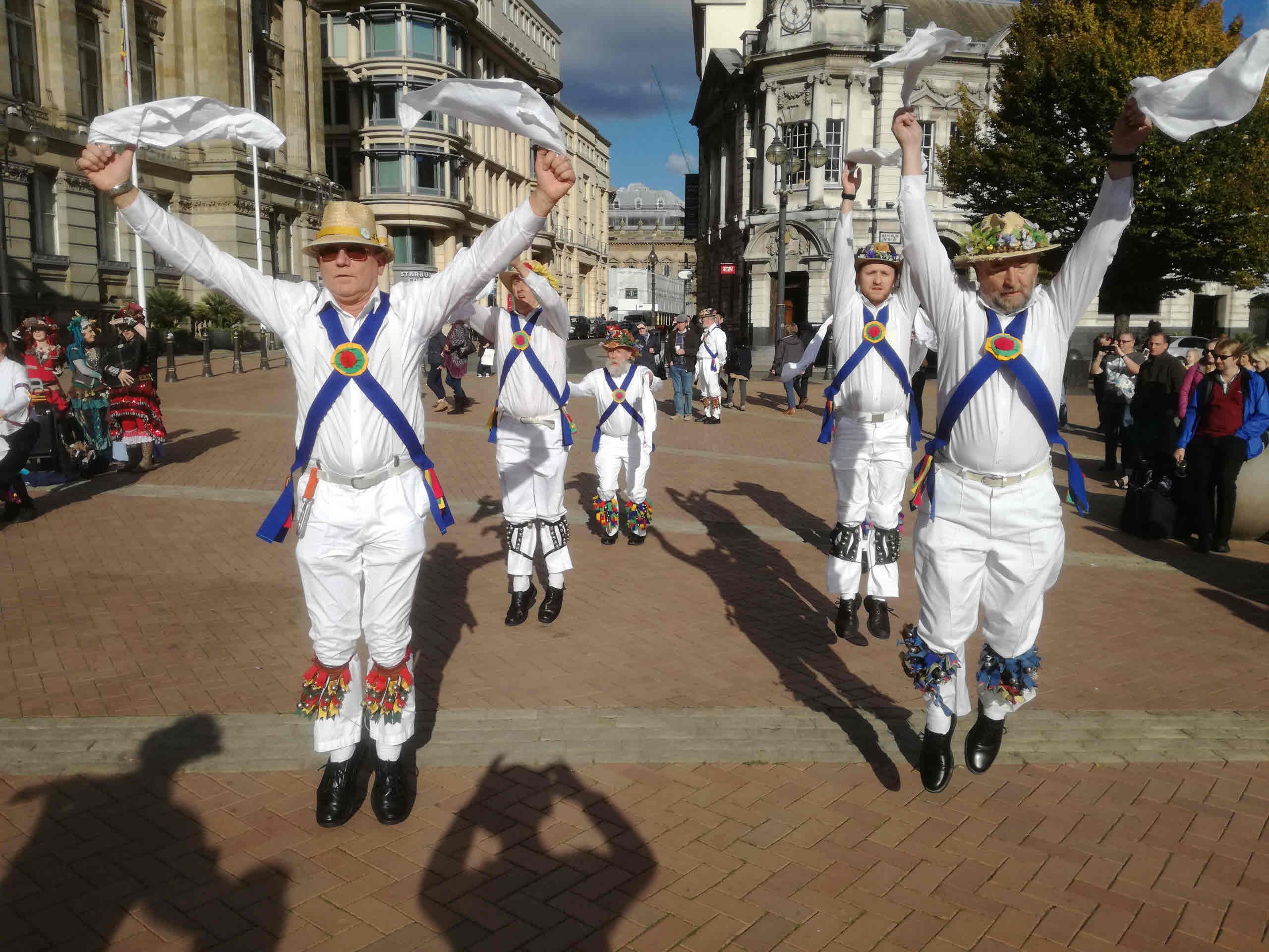 Dancing in Centenary Square - October 2016