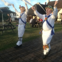Dancing at The Swan with Bedcote Morris - Chaddersley Corbett - 20th July