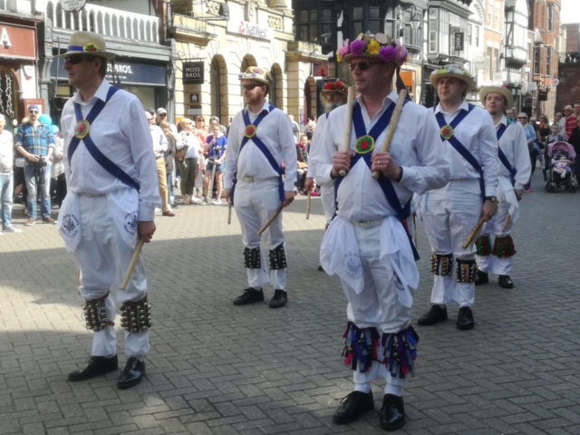 Dancing in Chester with Chester Morris Men - April 2018