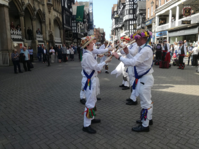 Dancing Lads a Bunchem Dancing in Chester - April 2018