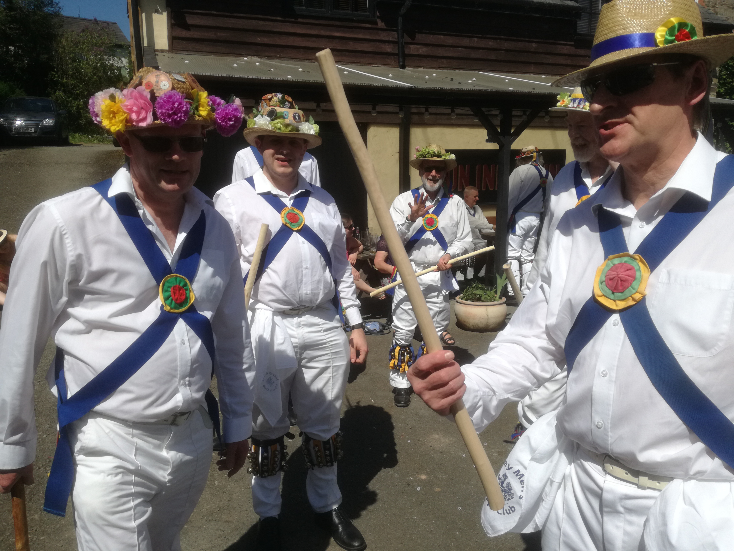 Dancing in Clun at The Green Man Festival
