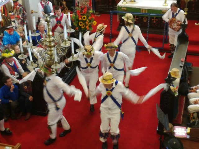 Dancing at Saddleworth Rushcart - 26th August 2018