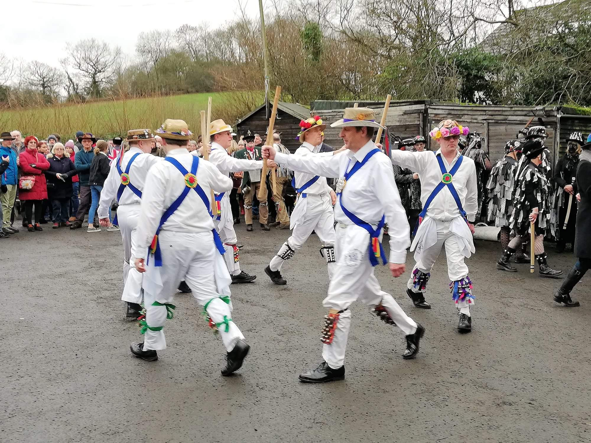 Dancing out with Alvechurch Morris Men on 1st January 2019 - (Photograph courtesy of Dave Fisher)