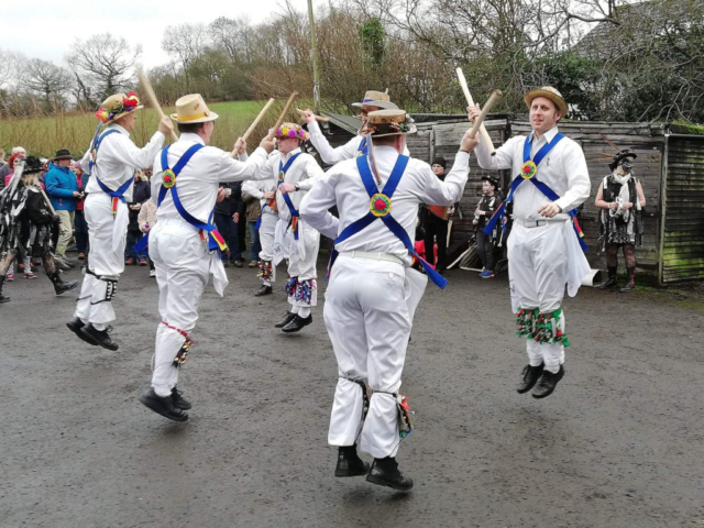 Dancing out with Alvechurch Morris Men - 1st January 2019