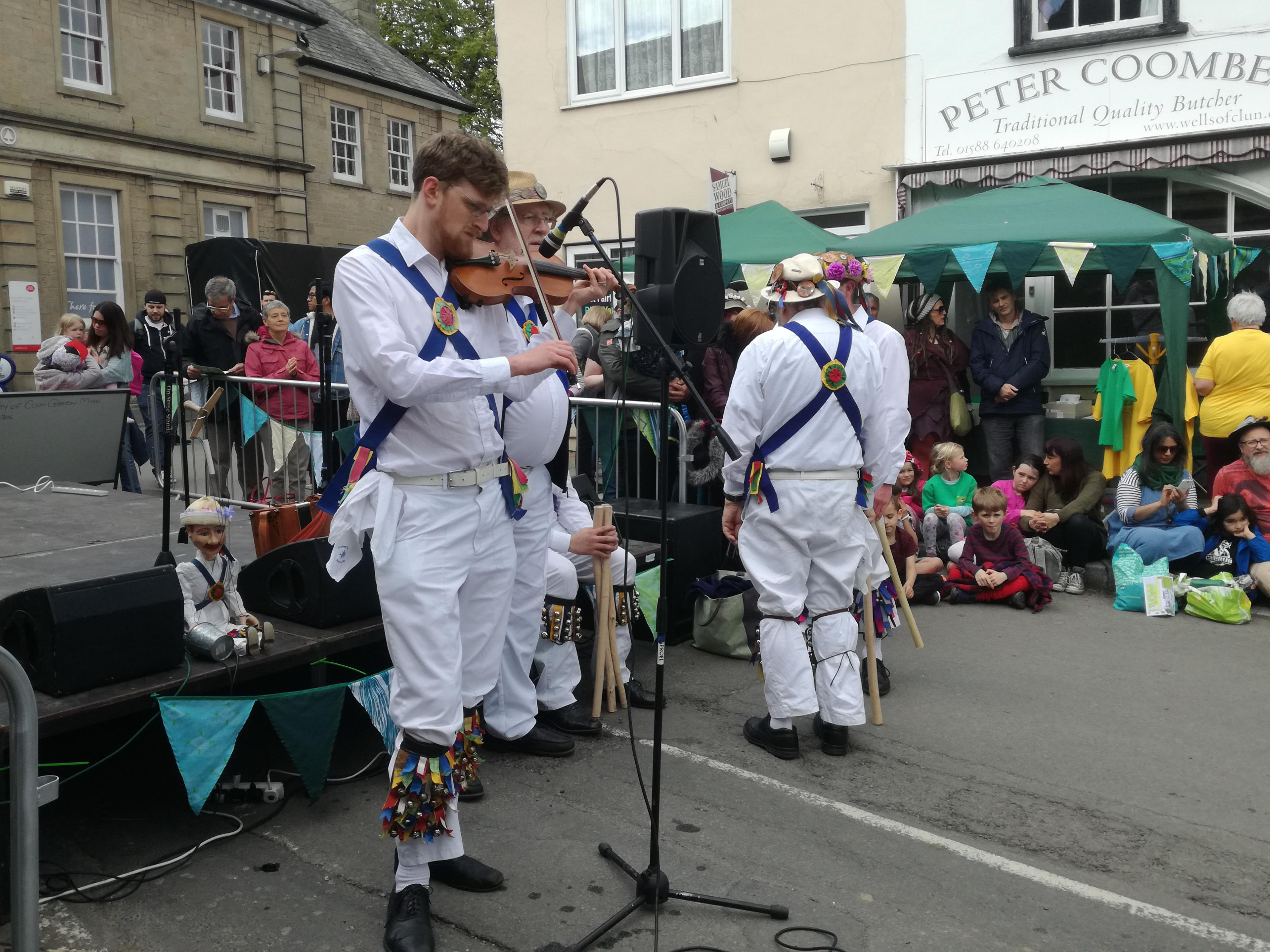 Our Squire Playing at Clun Green Man Festival - 2019
