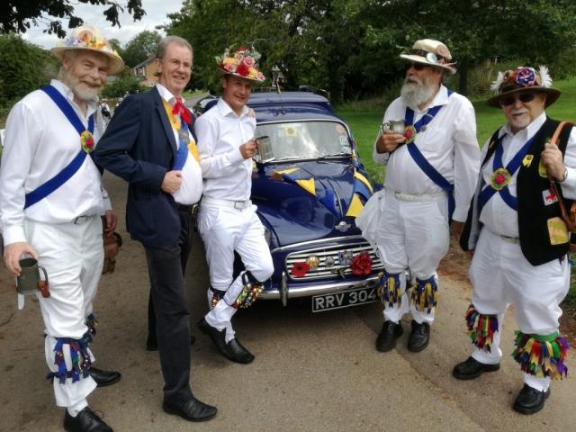 With the Ilmington Morris Minor van