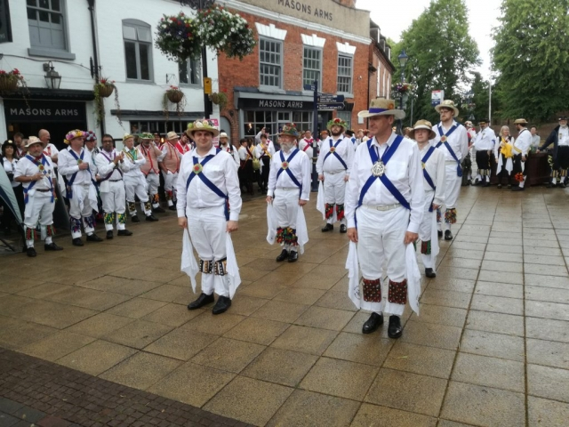 Dancing at the massed display in Solihull
